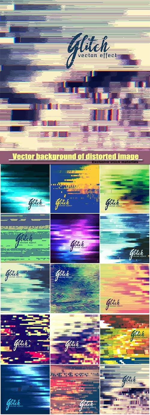 Vector background of distorted image