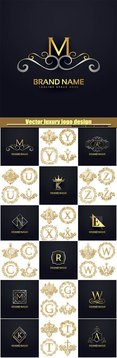 Vector luxury logo design