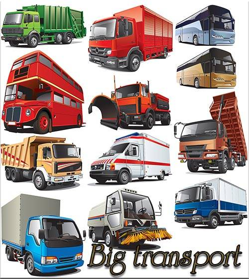 Big transport - Vector Stock