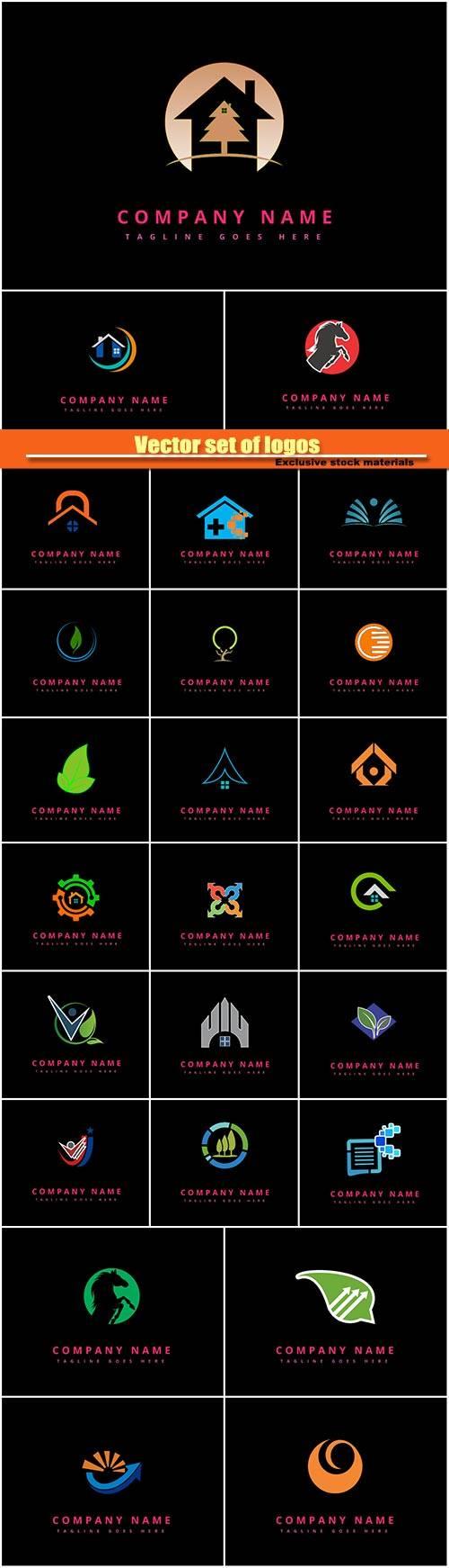 Vector set of logos
