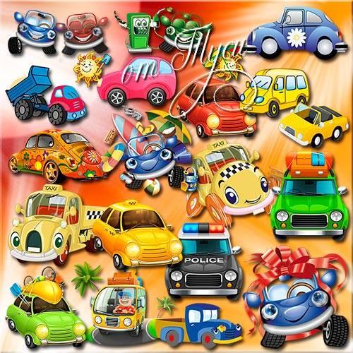 Кузов, фары и кабина – вот веселая машина - Детский клипарт