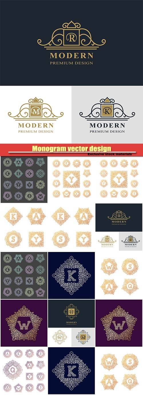 Monogram vector design, luxury logo