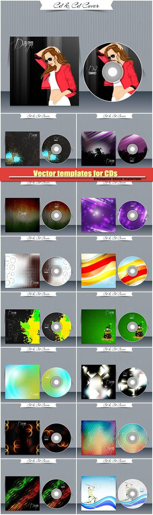 Vector templates for CDs