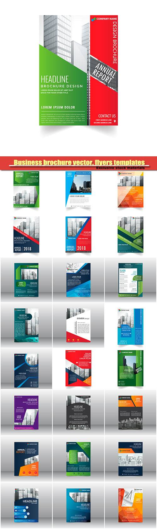 Business brochure vector, flyers templates #14