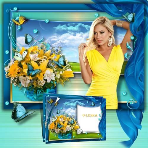 Рамка коллаж - Праздник жизни, красоты, аромата, цвета