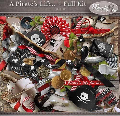 Детский скрап-набор - Пиратская жизнь
