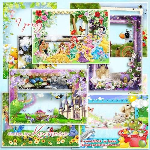 Детские рамки с героями мультфильмов - Сказка в гости к нам приходит