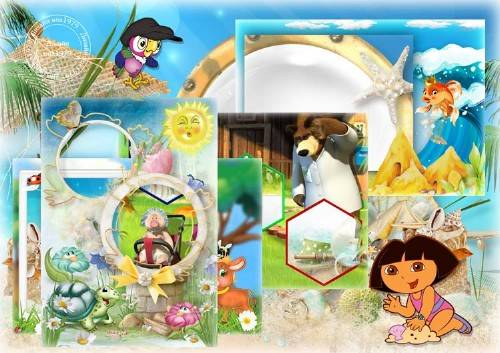 Набор рамок для фотошопа – Детские забавы