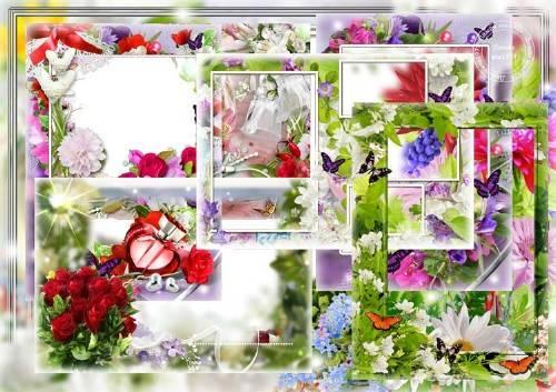 Набор рамок для фотошопа – Мир любви и цветов