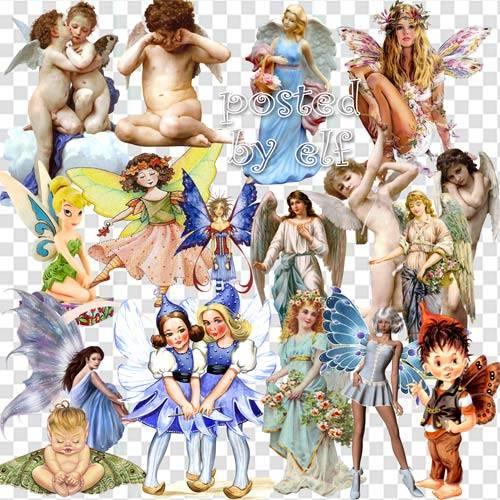 Клипарт png - Ангелы, феи, эльфы