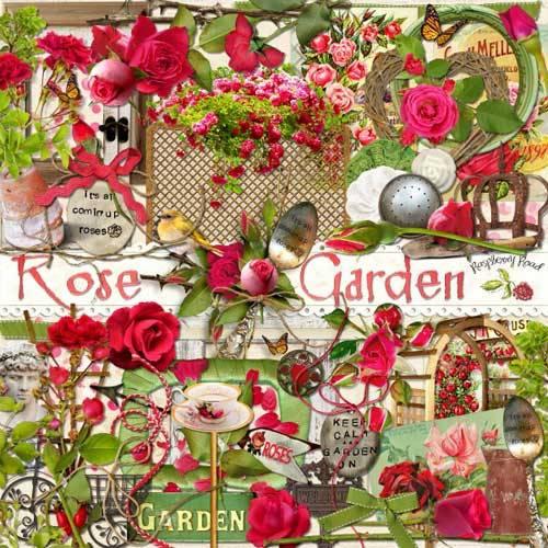 Цветочный скрап-набор - Розовый сад