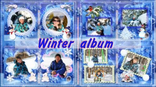 Зимний альбом - проект для ProShow Producer