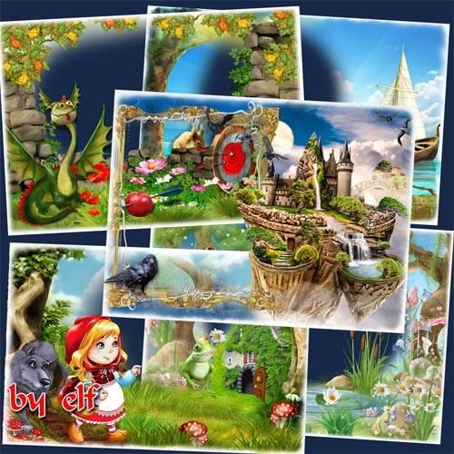 Детские рамки в png - Сказочные герои