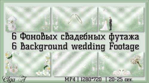 Рисованные свадебные футажи