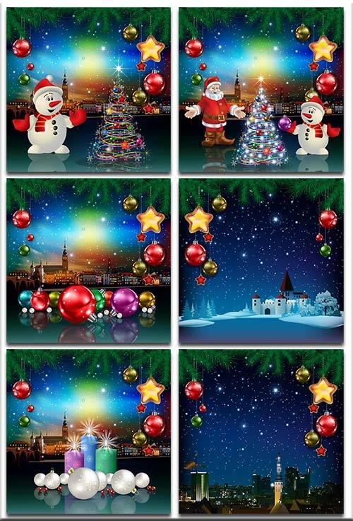Новогодние фоны-Новогодние композиции.7 часть/Christmas backgrounds-Christm ...