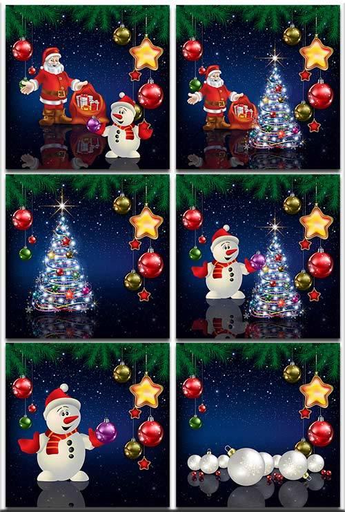 Новогодние фоны-Новогодние композиции.9 часть/Christmas backgrounds-Christm ...