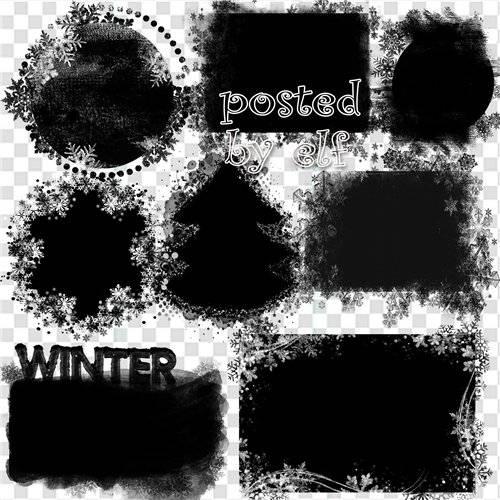 Подборка зимних масок для дизайна в фотошопе