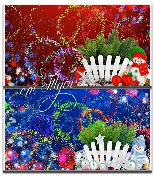 Новогодние футажи со снеговиками для фото и текста