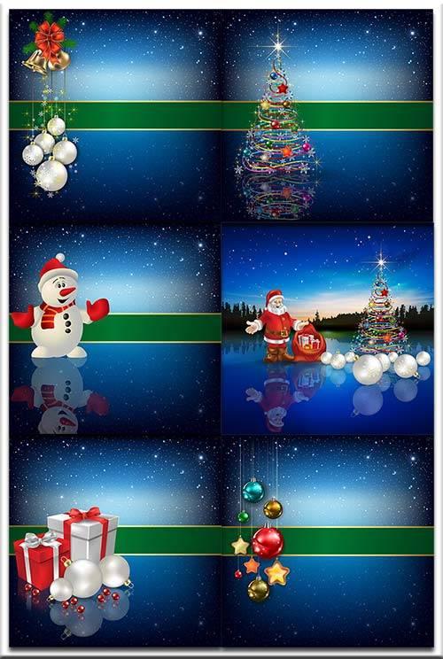 Новогодние фоны-Новогодние композиции.11 часть/Christmas backgrounds-Christ ...