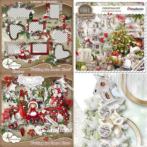 Scrap set - Silent Christmas / Strawberries christmas Joy / Waiting Santa C ...