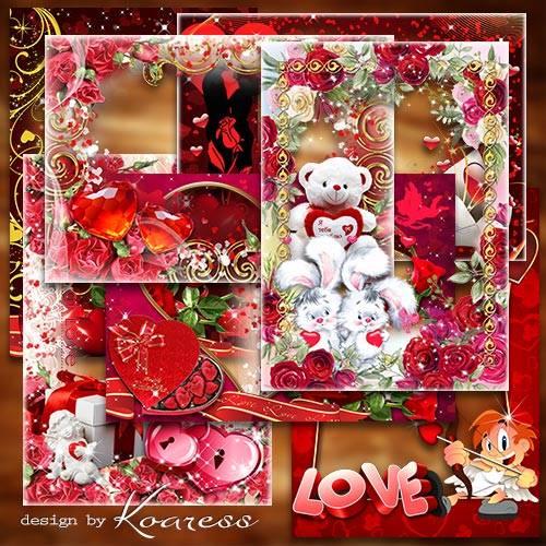 Фоторамки png к Дню Святого Валентина - Пусть  любовь приносит только счаст ...