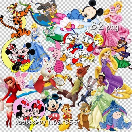 Подборка png клипарта для детей - персонажи мультфильмов Диснея - часть 1