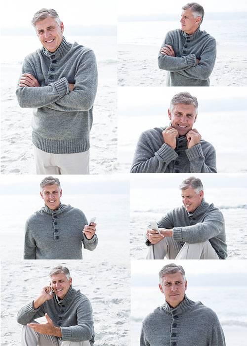 Клипарт - Мужчина на отдыхе / Clipart - Man on vacation