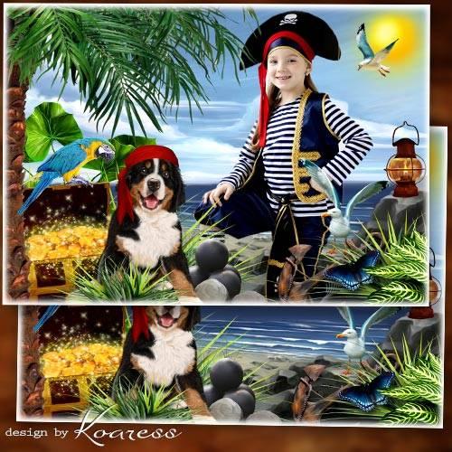 Детская фоторамка для портретов - Жизнь пиратов