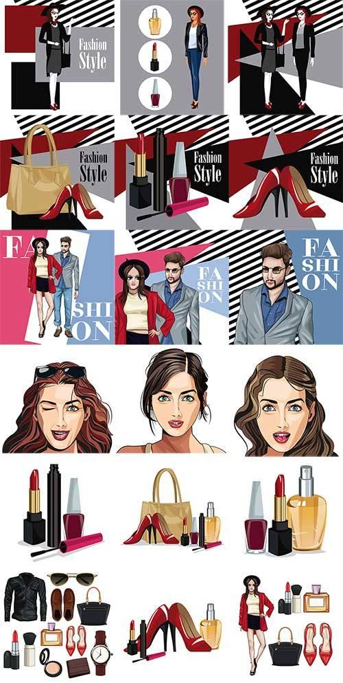 Модный стиль для молодёжи в векторе / Fashionable style for young people in ...