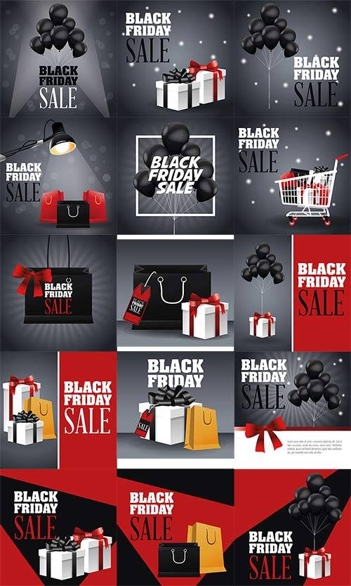 Black friday promotion label - Vector