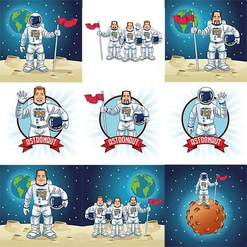 Astronaut space cartoon in vector
