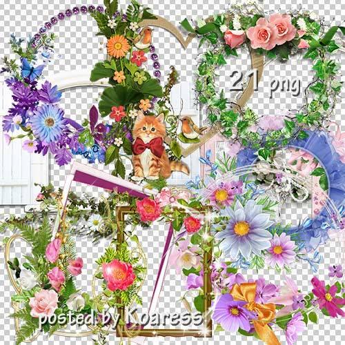 Подборка цветочных png рамок-вырезов для фотошопа - Цветочная коллекция