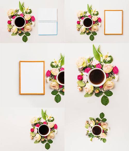 Цветочные композиции - Клипарт / Floral arrangements - Clipart