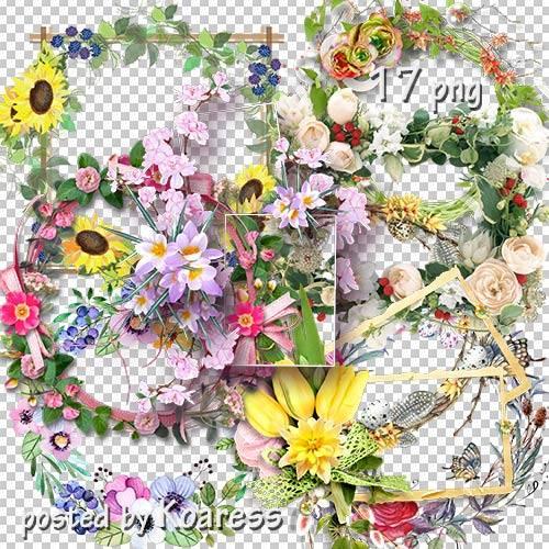 Подборка png рамок-вырезов - Цветочная коллекция 2