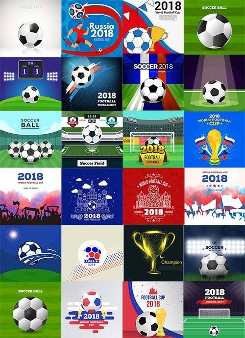 Векторные фоны для чемпионата мира по футболу 2018/ Vector backgrounds for  ...