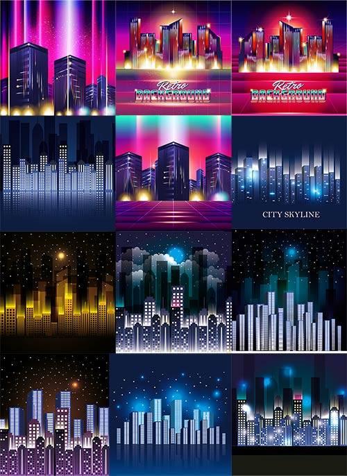 Город в огнях - Вектор / City in the lights - Vector