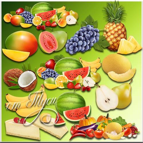 Фрукты - Клипарт / Fruits - Clipart