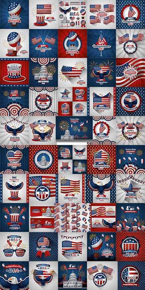 День независимости Америки - Вектор / American Independence Day - Vector