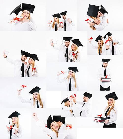 Выпускники - Растровый клипарт / Graduates - Raster clipart