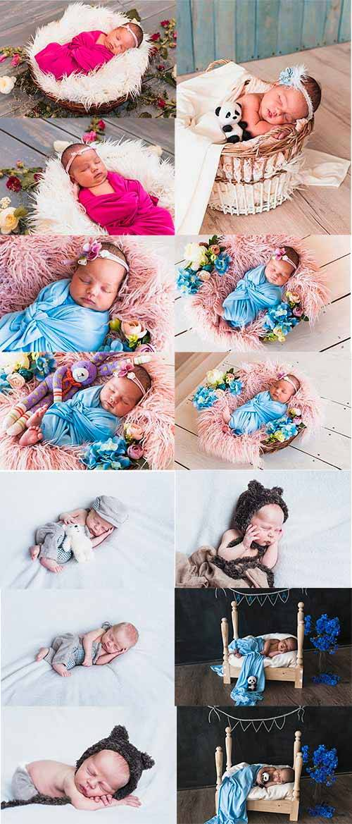 Младенцы - Растровый клипарт / Babies - Raster clipart