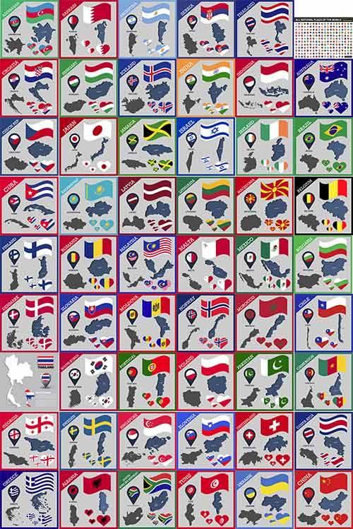 Флаги и символика стран мира в векторе / Flags and symbols of the countries ...