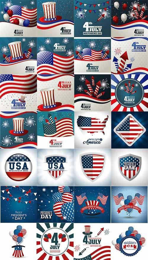 4 июля - День США - Вектор / July 4 - Day of the USA - Vector