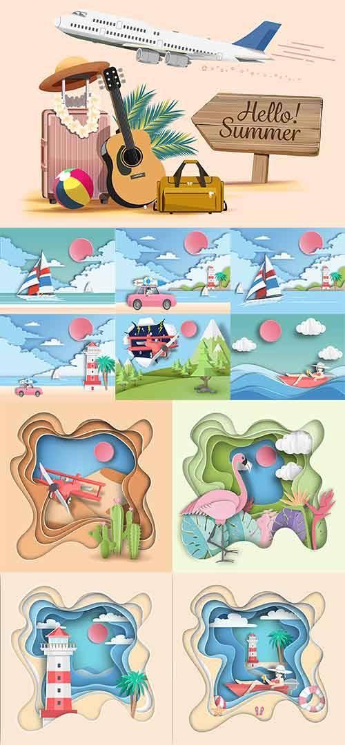 Летние зарисовки в векторе / Summer sketches in vector