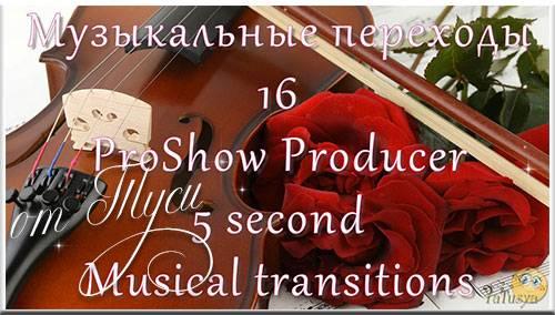 Музыкальные переходы для ProShow Producer