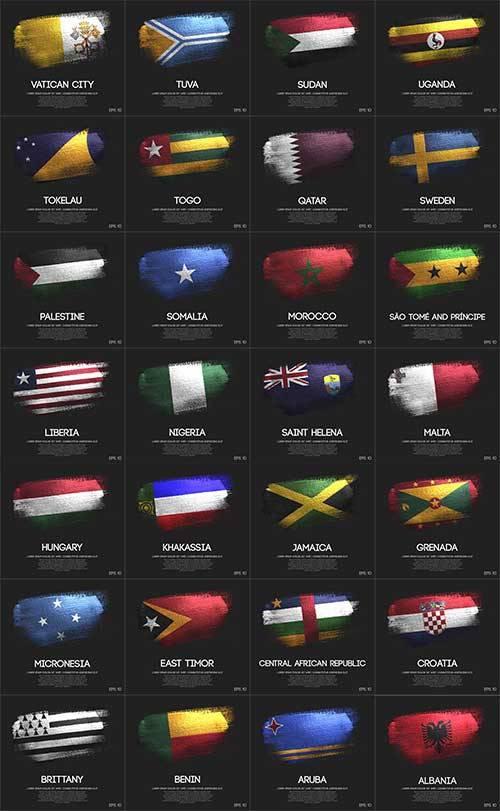 Флаги народов мира - 4 - Векторный клипарт / World flags - 4 - Vector Graph ...
