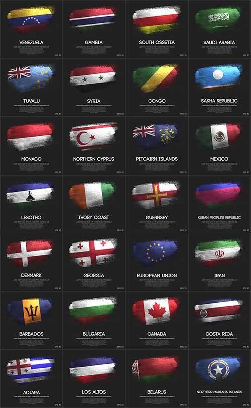 Флаги народов мира - 7 - Векторный клипарт / World flags - 7 - Vector Graph ...