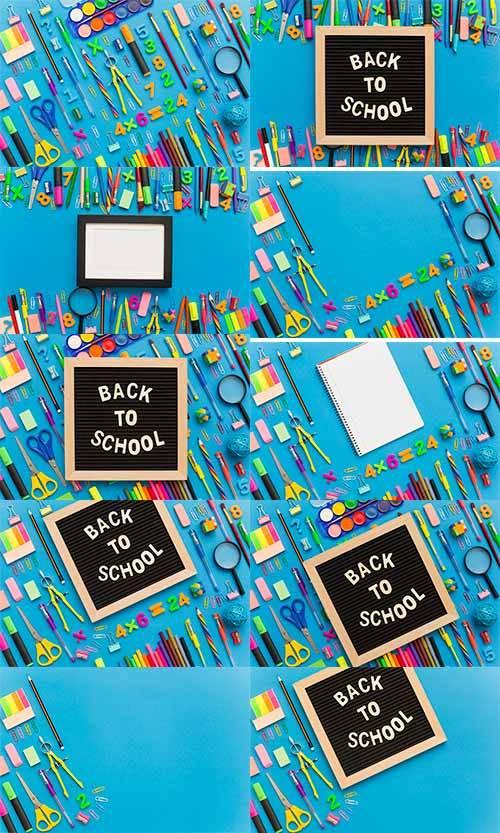 Школьные фоны -3 - Растровый клипарт / School backgrounds - 3 - Raster clip ...