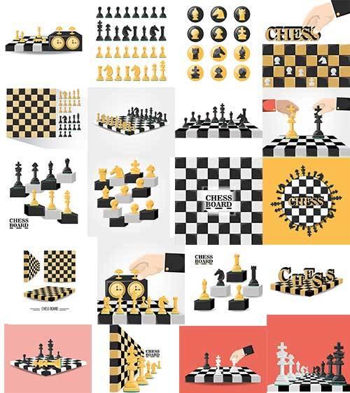 Шахматы - Векторный клипарт / Chess - Vector Graphics