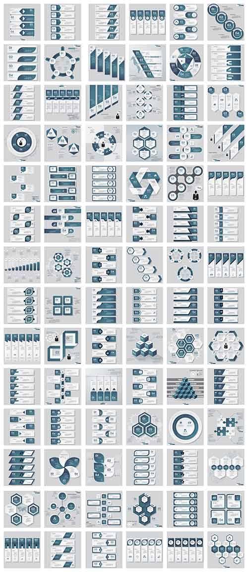 Шаблоны инфографики в векторе / Infographic patterns in vector