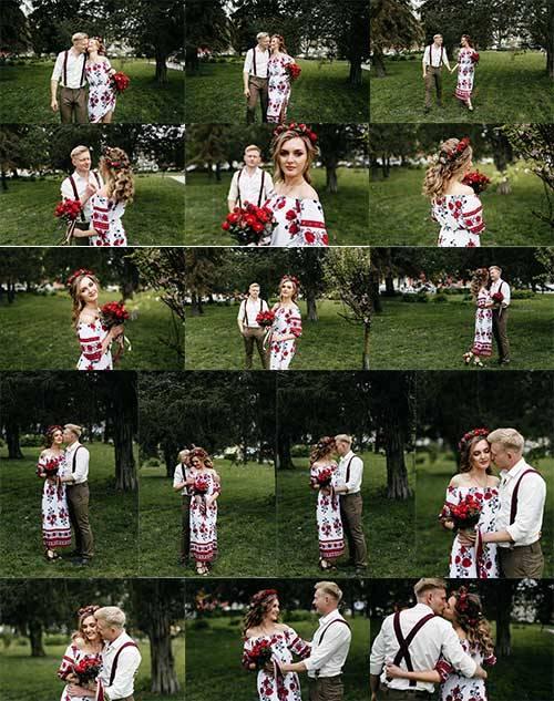 Парень и девушка в национальных костюмах / The guy and the girl in national ...